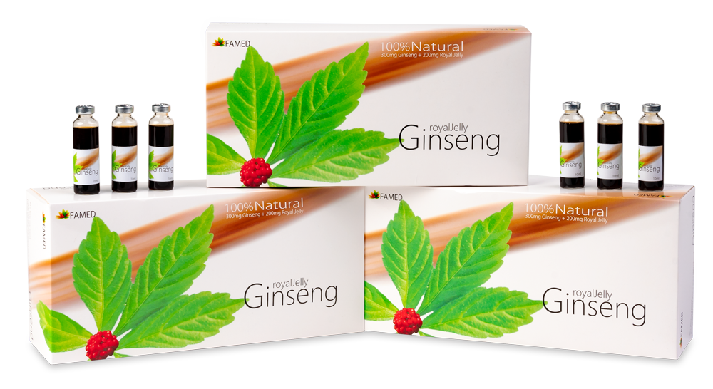 Monatspackung: FAMED Ginseng Royal Jelly (30 x 10 ml Trinkampullen)
